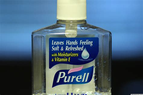 remove ink stains with hand sanitizer to avoid an