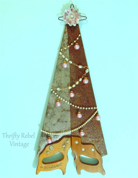 Drape Tape Repurposed Hand Saw Tree Thrifty Rebel Vintage