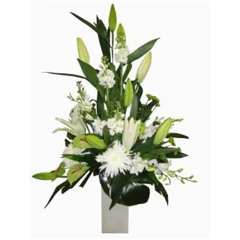 Floral Arrangements Delivery by White Premium Flower Arrangement Perth Flowers Delivery