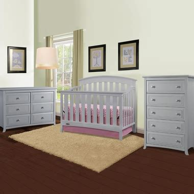 pebble grey baby dresser graco cribs arlington 3 piece nursery set convertible