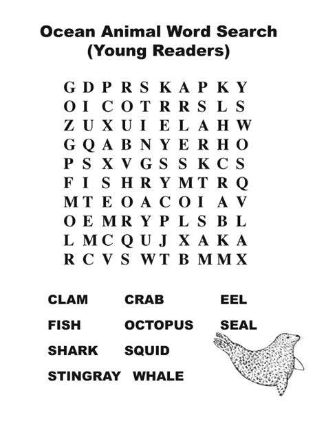 printable under the sea word search best photos of ocean animal word search ocean animal