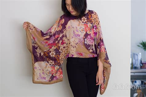 diy scarf top with kimono sleeves fafafoom