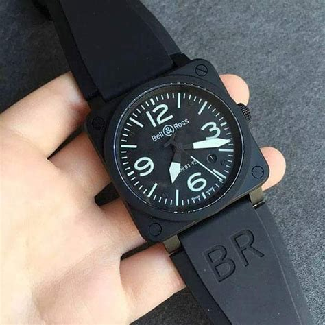 Jam Bell And Ross jual beli jam bell ross br 03 92 pvd black best