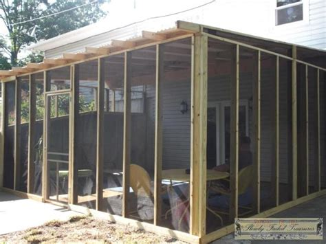 how to build a screen room a new room to enjoy building the screened in porch slowly faded treasures