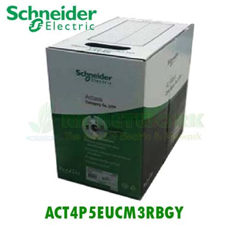 Schneider Electric Cat5e Utp Cable 305m Dcecautp4p3x act4p5eucm3rbgy สายแลน schneider cat5e actassi