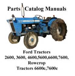 ford tractor manual parts 2600 3600 4600 5600 6600 7600