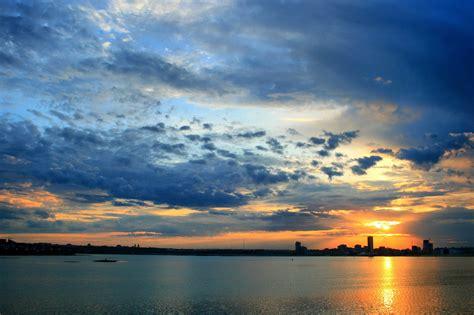 sky landscape sea city wallpapers hd desktop