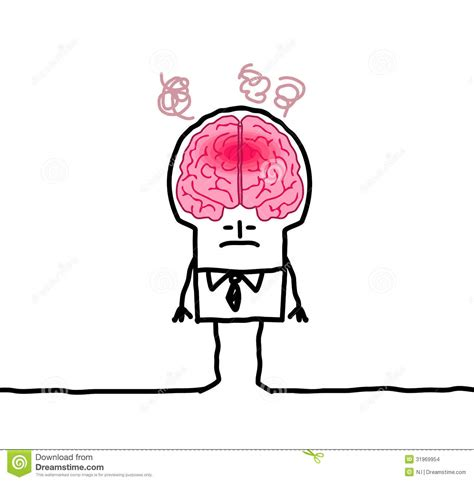 Big Brain Man Fever Stock Vector Image Of Face Front Big Brain Pricing