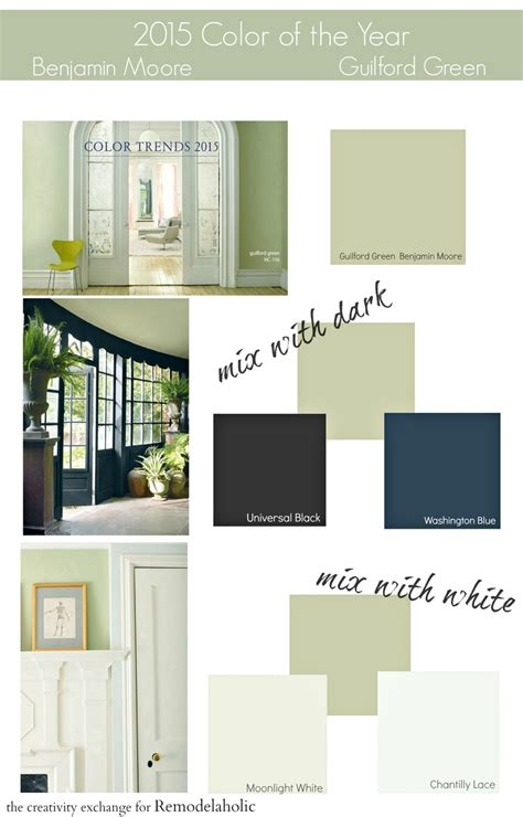 remodelaholic benjamin 2015 paint color of the year guilford green