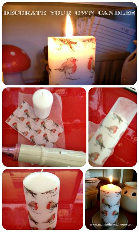 homemade christmas decorate a pillar candle homemade