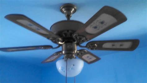 quoizel floral six blade ceiling fan youtube