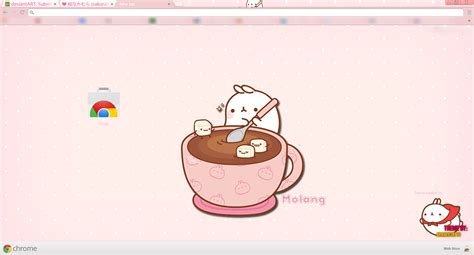 themes google chrome kawaii molang kawaii and simple theme for chrome by akanekyatto