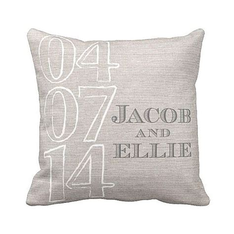 personalised wedding pillows personalized wedding gift pillow cover by marche on