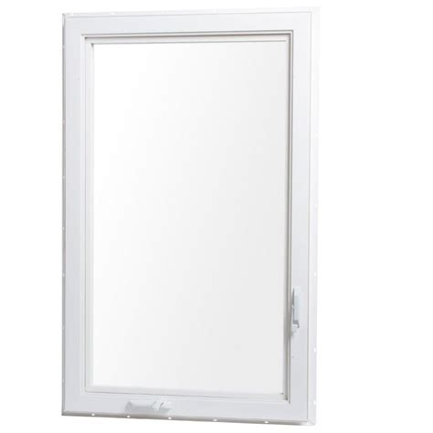 home depot awning windows tafco windows 30 in x 48 in left hand vinyl casement window with screen white