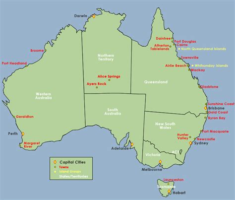 map of australia with major cities image gallery mapquest australia