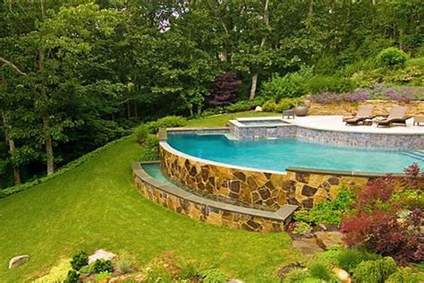 How To Build A Pool What To Do With A Sloped Backyard How To Build A Backyard Pool