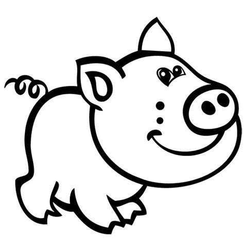 cute pig cartoon coloring pages kids coloring pages