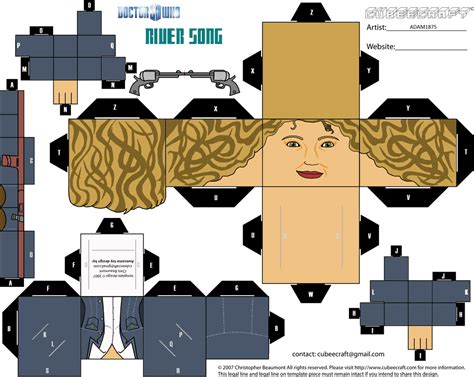 Paper Cube Craft - cubeecraft doctor who cubeecraft doctor who river song