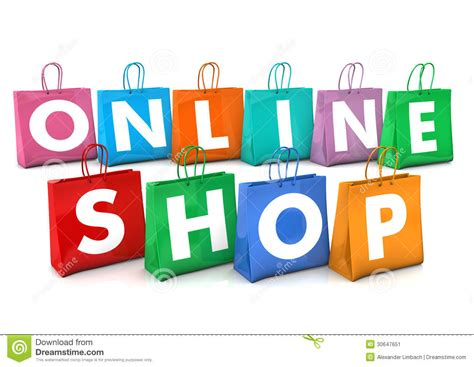 background online shop online shopping bags stock image image 30647651