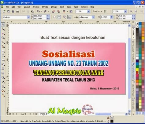 membuat narrative text sendiri membuat desain background banner event dengan coreldraw