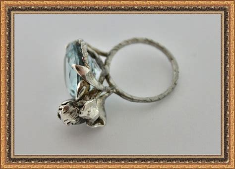 ring sterling silver topaz aquamarine color from elenakook