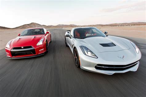 Nissan Gtr Vs Corvette by 2014 Chevy Corvette Stingray Vs 2014 Nissan Gt R Track