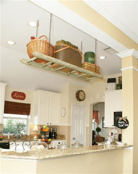 Kitchen Ceiling Shelves Diy Ladder Shelf Ideas Easy Ways To Reuse An Ladder