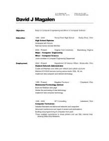 Sle Resumes For High School Graduates by Resume Template High School Graduate Sles Of Resumes