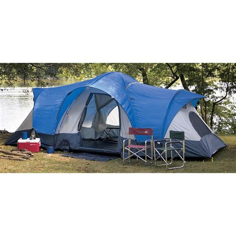 4 room tent blue moon 12 person 4 room family dome tent 127338 backpacking tents at sportsman s guide