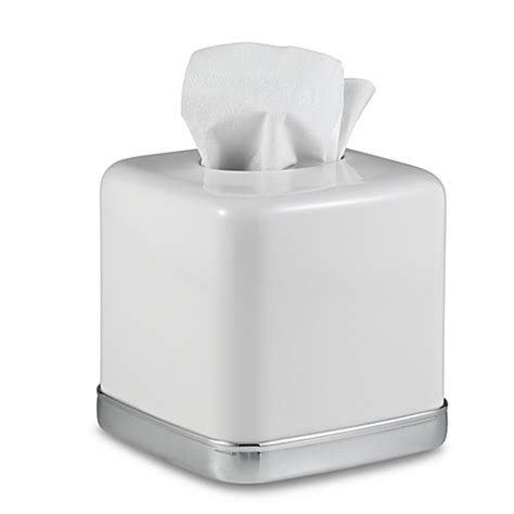 Tissue Cover White Camille buy york boutique tissue box cover in white from bed bath beyond