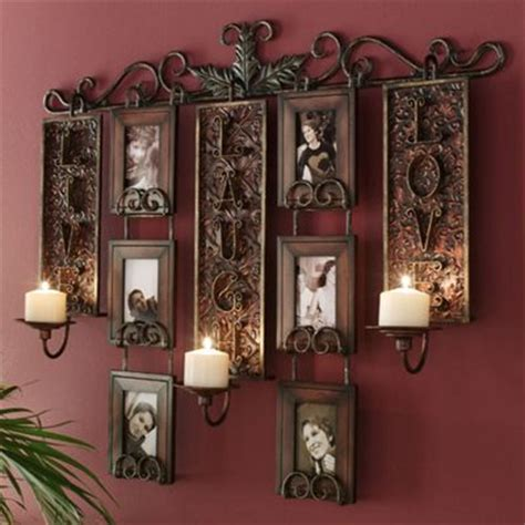 wall decor candles home decoration club live love laugh candlelit photo display from home at