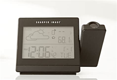 weather projection clock sharper image