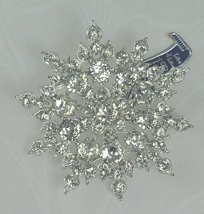 Rhinestone Snowflake Brooch amazing adornments ritzy rhinestone snowflake brooch