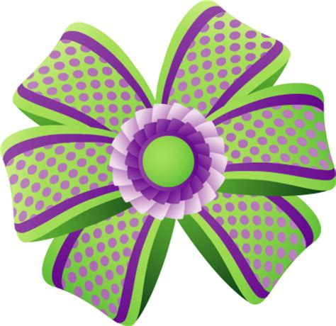 Green Gifts Hair Clip purple gift bow clipart