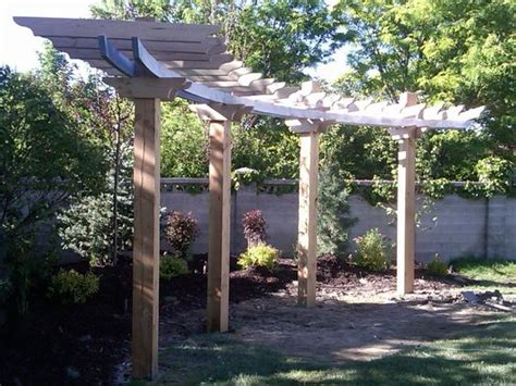 garden oasis curved pergola curved pergola pergolas and construction on
