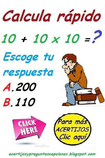 acertijos y preguntas capciosas con respuesta acertijos matem 225 ticos y preguntas capciosas 2014 01 05