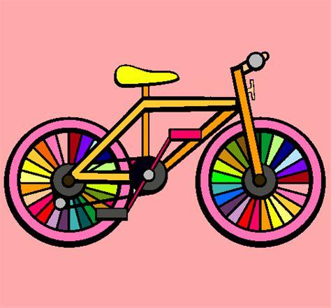 imagenes de bicicletas faciles para dibujar dibujo de bicicleta pintado por petronila en dibujos net