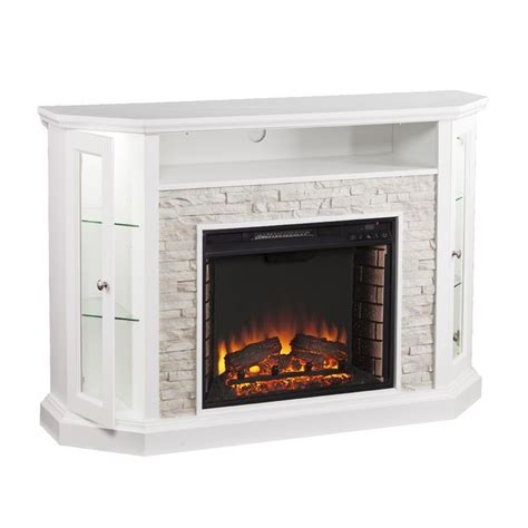 Best Attractive White Electric Fireplace Media Console White Fireplace Tv Stand