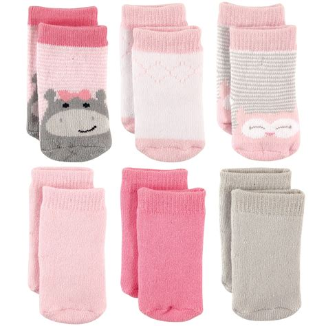Luvable Friends Terry Socks 6 Pack Black Shoe 0 3m Kaos Kaki Bayi galleon luvable friends baby terry crew socks 6 pack