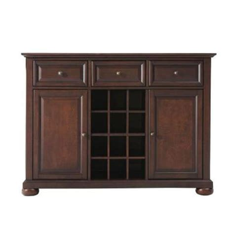 alexandria cabinets home depot crosley alexandria mahogany buffet server and sideboard