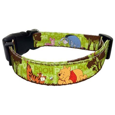 disney collar your wdw store disney pet collar green winnie the pooh pals piglet tigger eeyore