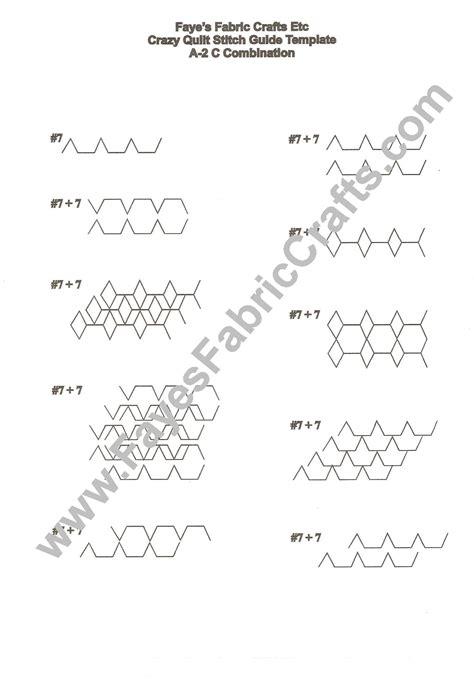 quilt stitch guide templates