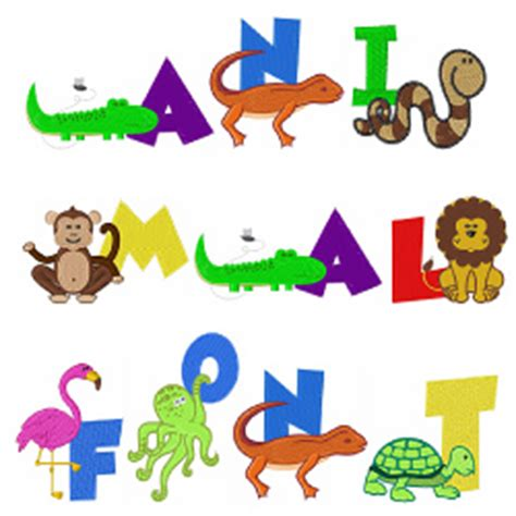 animal pattern font animal font embroidery font annthegran