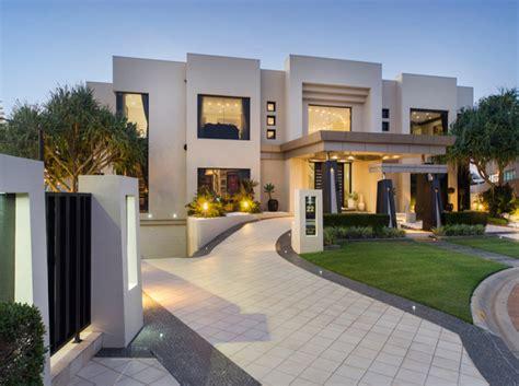 Triplex House Plans contemporary waterfront mansion in queensland australia