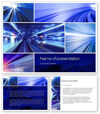 high speed motion powerpoint template poweredtemplate