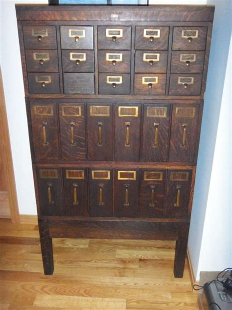 Library File Cabinet Gorgeous Globe Antique Library Card Magazine Paper File Cabinet Solid Tiger Oak Antiques