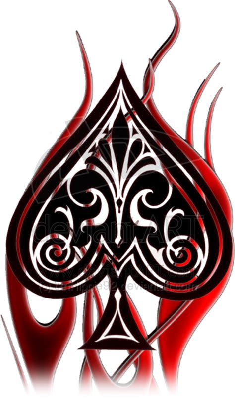 pin spade tattoo design pic 13 on pinterest