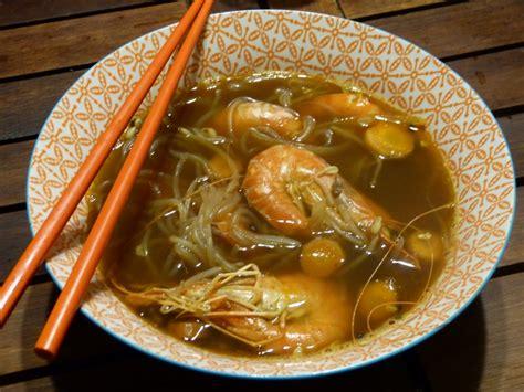 une bonne soupe miso aux crevettes  au konjac gourmicom