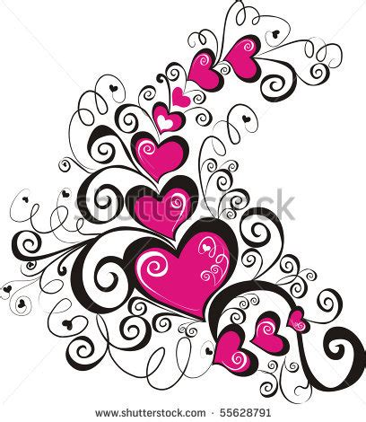 beautiful design beautiful heart with floral ornament element tattoo design