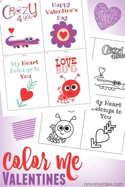 Word 2016 Valentines Day Card Template by Color Me Printables Classroom Cards A S Take